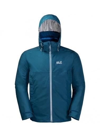 Jack Wolfskin North Fjord 3İn1 Erkek Ceket - 1110951-1134 Mavi
